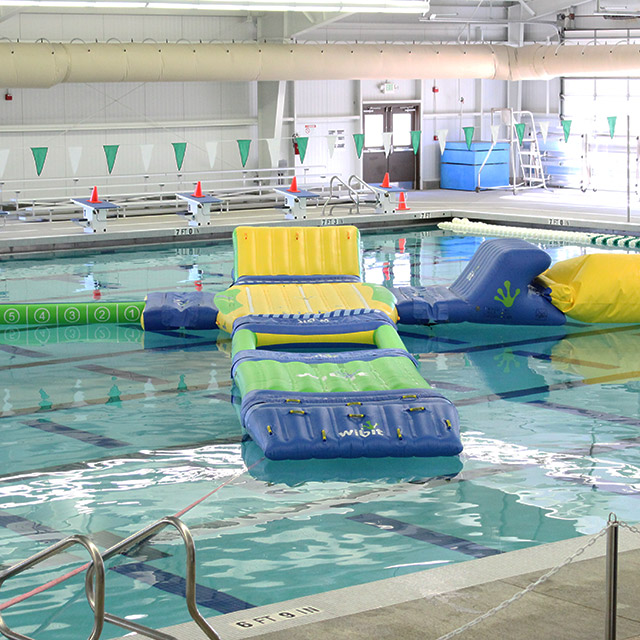 Iinflatable games in a pool